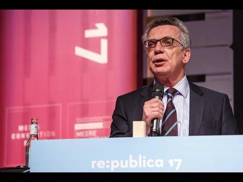 re:publica 2017 - Innenminister de Maizière im netzpolitischen Dialog