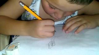 Little Foot drawing by: Jayden Huelskamp