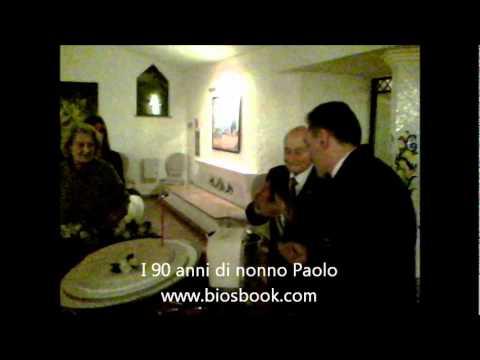 Biosbook i 90 anni di nonno Paolo La torta