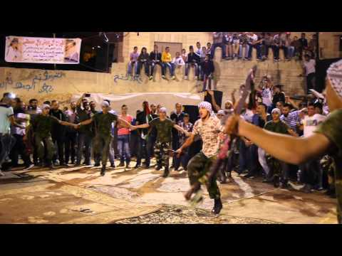 Palestinian Wedding party dancing, Isawiyya, East Jerusalem