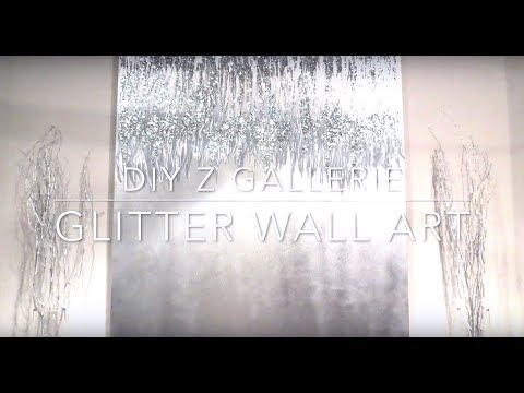 DIY Z Gallerie glitter wall art