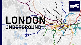 London's rapid transit system (Underground, Overground) expansion animated 1863-2020