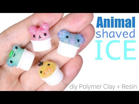 How to DIY Animal Shaved Ice Polymer Clay/Resin Tutorial