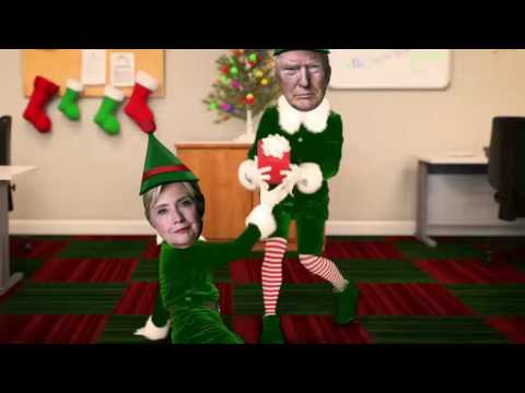 Donald Trump Hillary Clinton Elf Yourself Happy Election Day