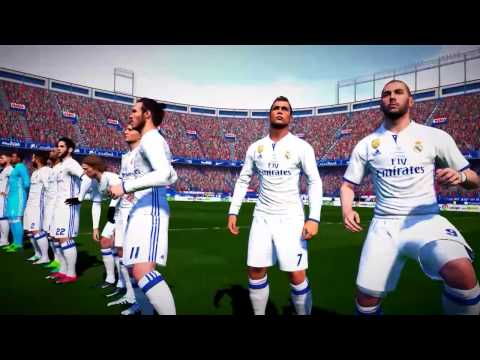 gameplay pes 2017: el derby de madrid - atlético madrid vs. real madrid