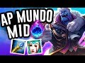 AP MUNDO DOES INSANE BURN DAMAGE!! - AP Dr. Mundo Mid - League of Legends