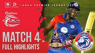 Match 4 | Colombo Kings vs Galle Gladiators 5 over affair | LPL2020 Full Highlight