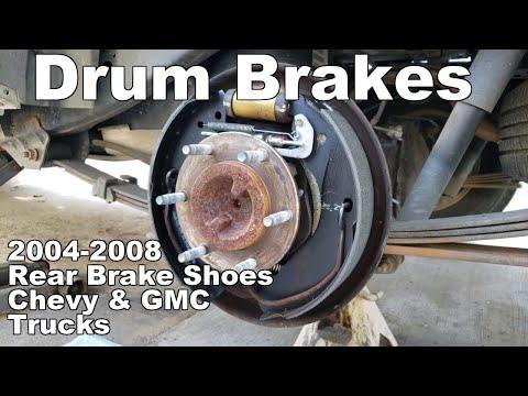 How To Replace Rear Brake Shoes Chevy Colorado, Silverado & GMC Canyon, Sierra 2004-2008