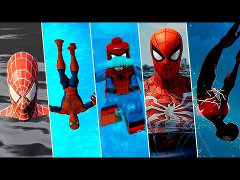 Evolution of Spider-Man Swimming in Games (2000-2021) 4K