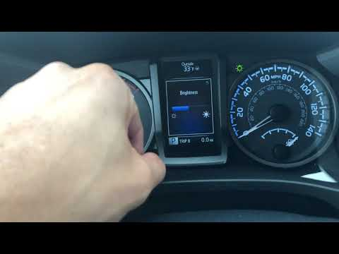 Toyota Tacoma – Brightening And Dimming The Instrument Panel Instructions