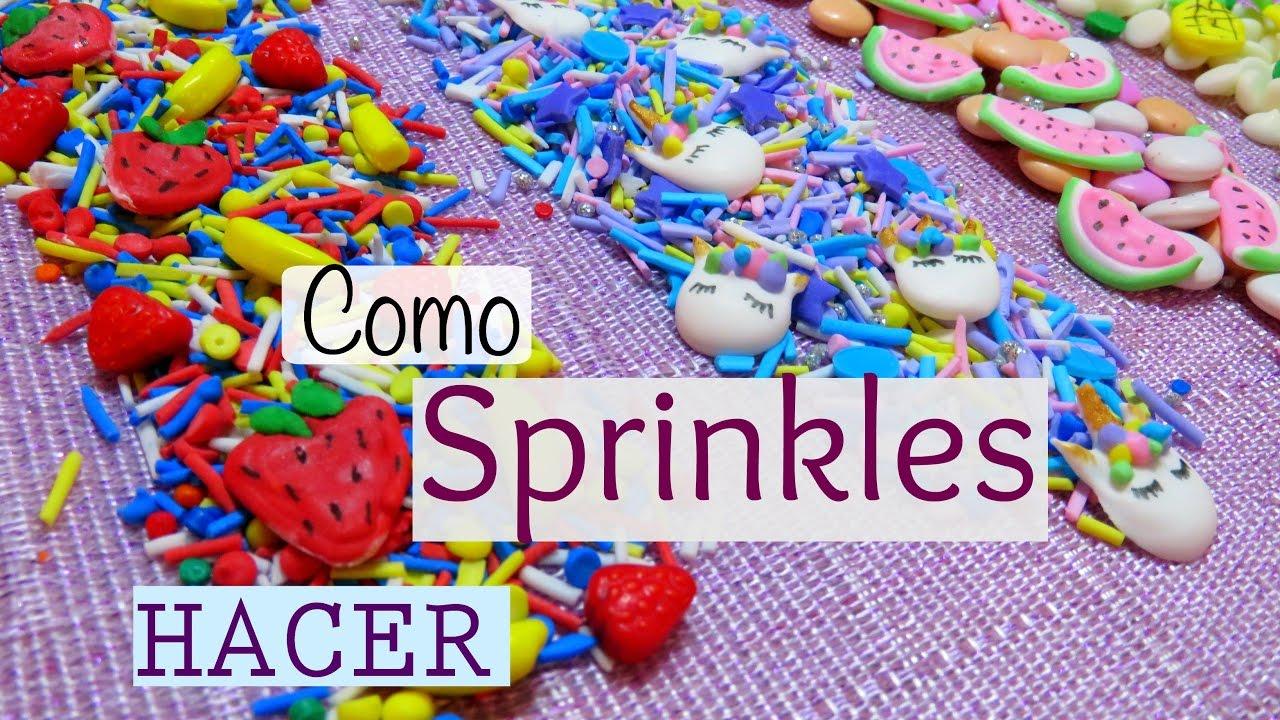 Como hacer sprinkles confeti o chispitas comestibles how for Como hacer confeti