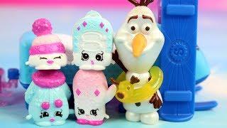 Shopkins & Disney Frozen | Ucieczka od lata | Bajki dla dzieci