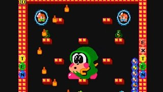 Bubble Bobble 2 Player Gameplay (Rounds 1 - 100)