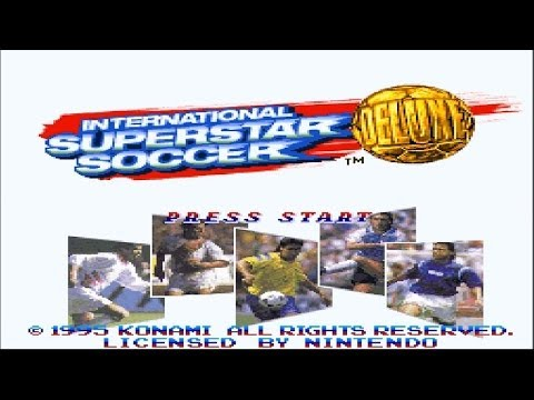 1995 International SuperStar Soccer DELUXE Intro (SNES)