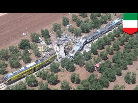 Italy train  Head-on, high speed train collision