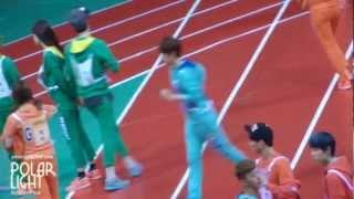 [POLAR LIGHT]130128 MBC Idol Star Athletic Championships BAEKHYUN