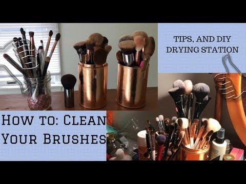 How to: Clean Your Makeup Brushes!! TIPS&DIY