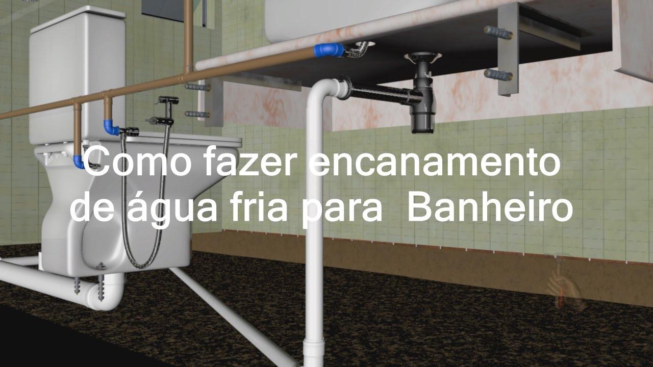 Amado Como fazer encanamento de água fria para Banheiro - YouTube EB02