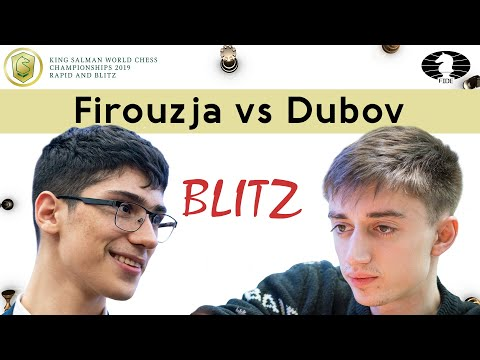 Lucky win by Daniil Dubov vs Alireza Firouzja | World Blitz Championship 2019 |