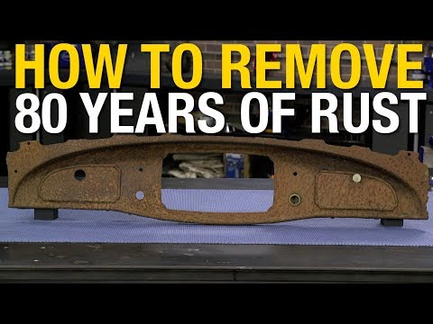 How to Remove Rust From an 80 Year Old Dashboard! Rust Dissolver From Eastwood