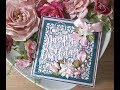 Teal & Pink Floral Card with Card Making Magic