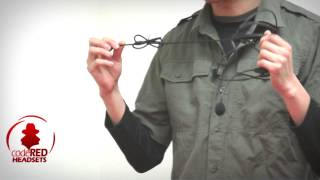 CQB Tactical Headset with boom microphone