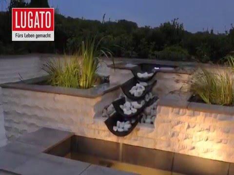 Anleitung: Wasserspiel im heimischen Garten bauen von LUGATO - YouTube