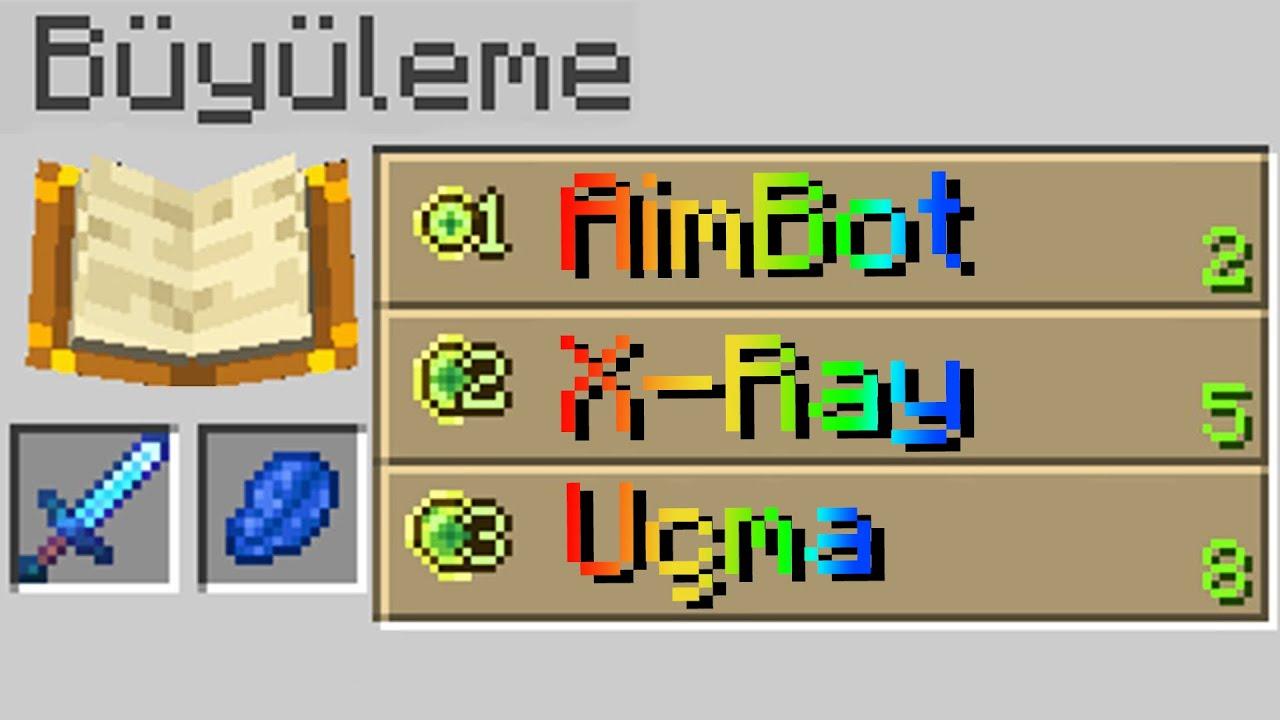 minecraft AMA büyü olarak hile basabiliyorum
