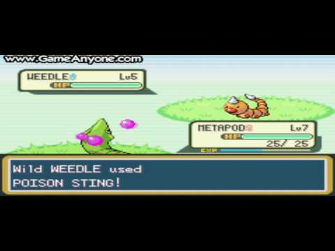 Pokemon Fire Red Walkthrough Part 4: Alright Metapod, Time For Some Training!
