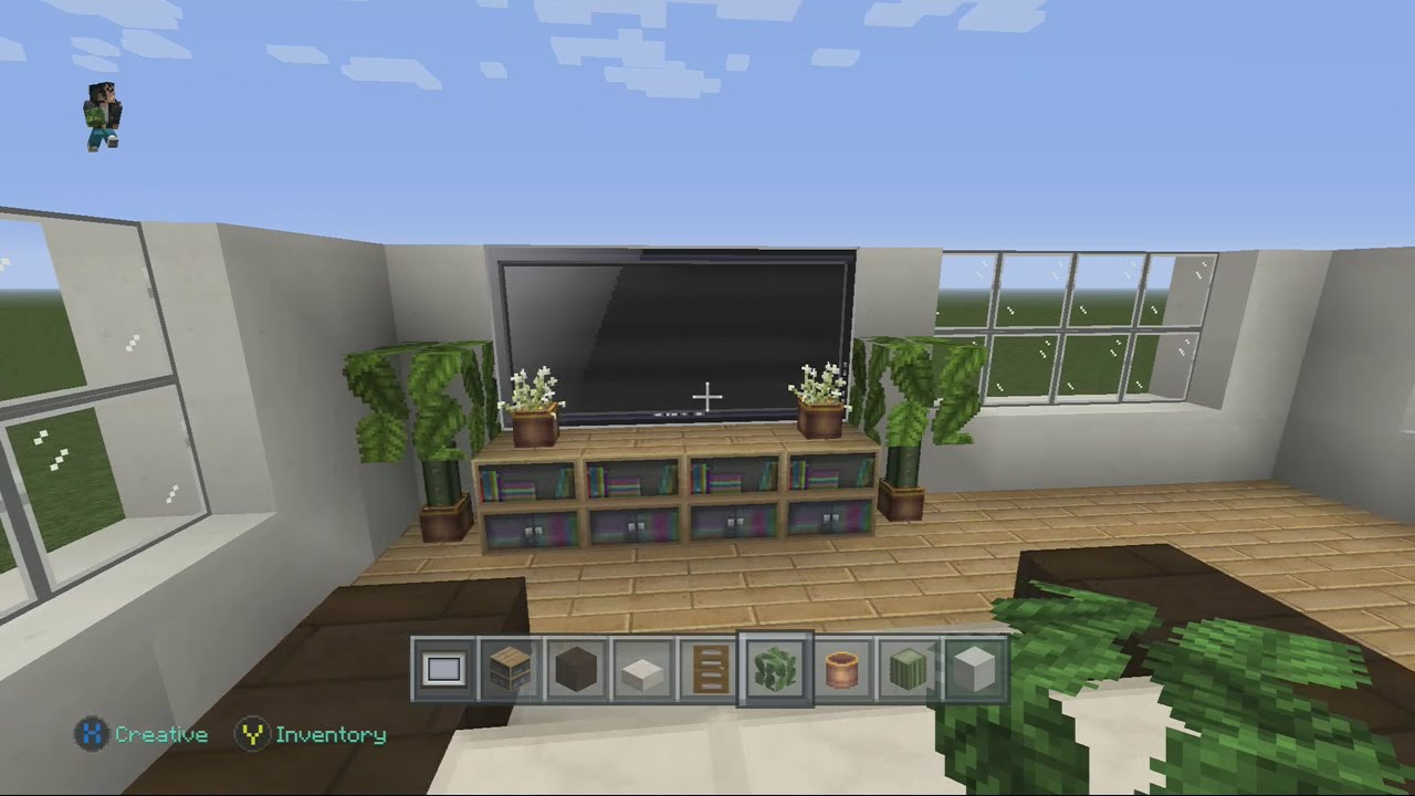 Minecraft Xbox Modern House Building with City Texture Pack Part 2