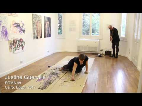 Art Live Performance by Justine Guerville at SOMA Art School & Gallery | Cairo, 2017