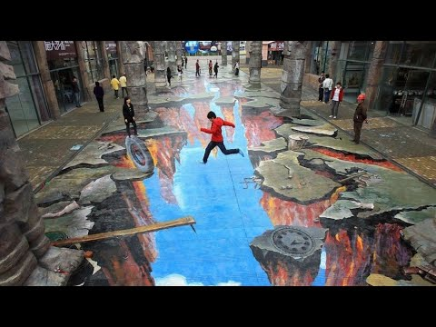 Best 3D Street Art Painting | Amazing 3d Street Art Illusion Part 1 – whyCLUMSY