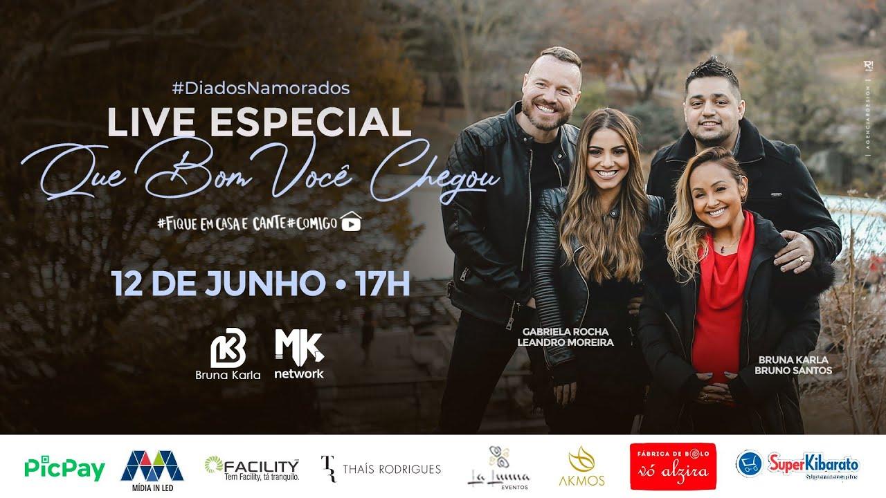 BRUNA KARLA - Live Especial ❤️Que Bom Você Chegou #FiqueEmCasa Cante #Comigo #DiaDosNamorados