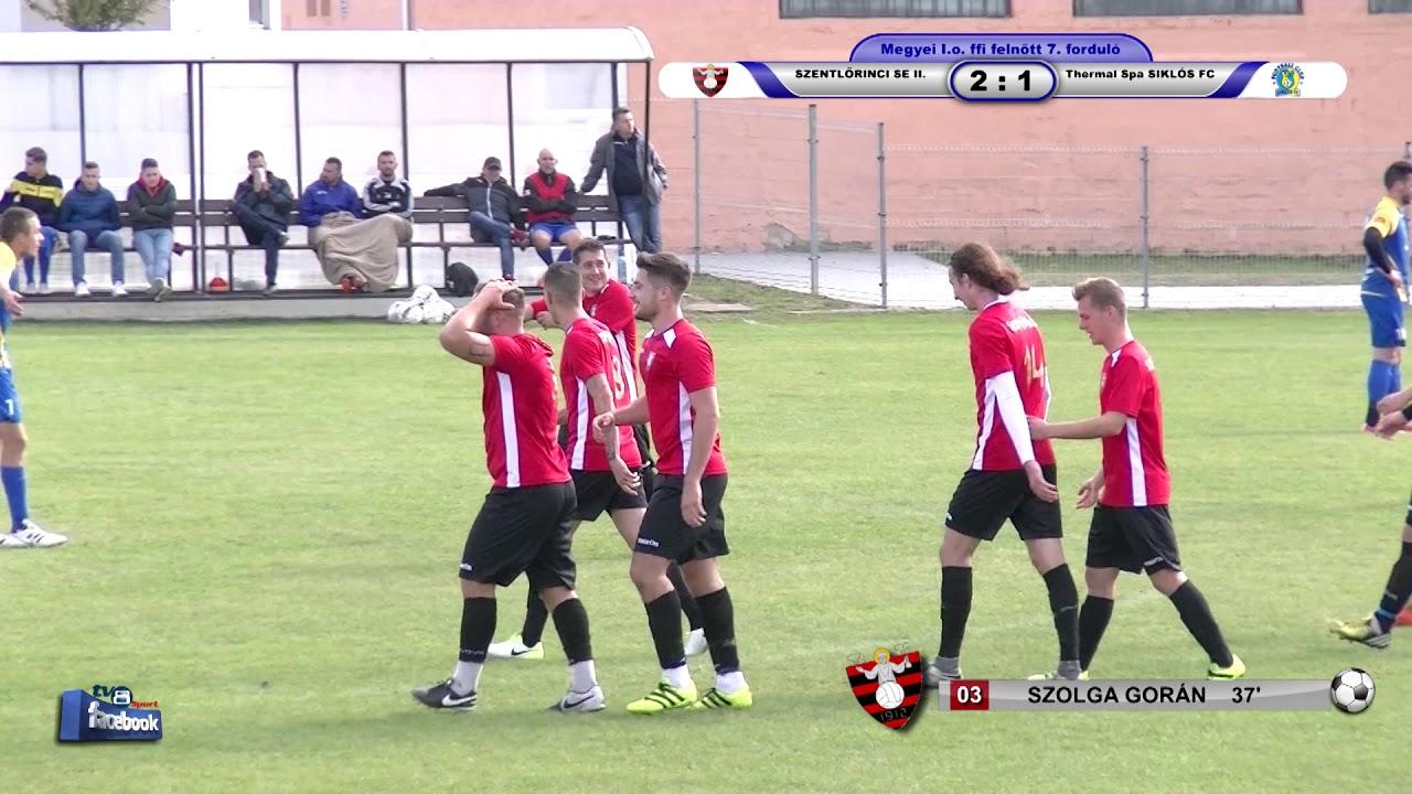 SZENTLŐRINCI SE II. - Thermal Spa SIKLÓS FC    2 - 1 (2 - 1)
