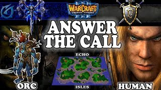 Grubby | Warcraft 3 TFT | 1.30 | ORC v HU on Echo Isles - Answer the Call