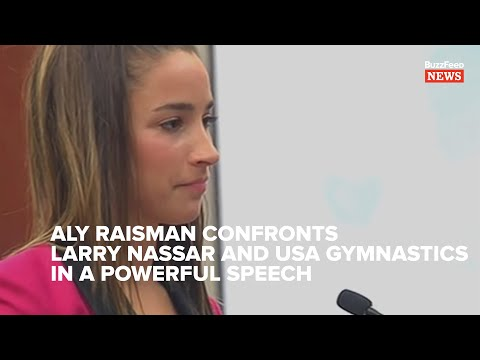 Listen To Aly Raisman's Powerful Speech Calling Out Larry Nassar And USA Gymnastics