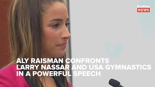 Listen To Aly Raisman 39 s Powerful Speech Calling