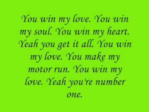 Shania Twain - You win my love lyrics