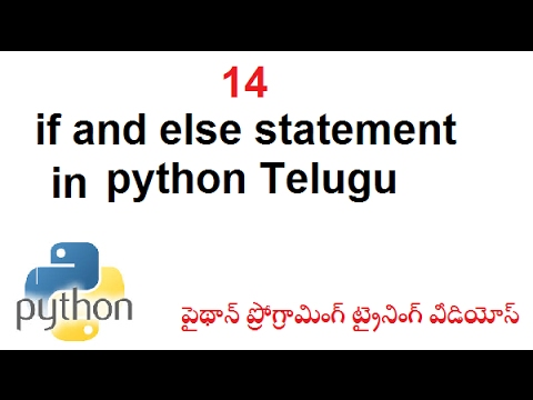 how to make an if else statement in python