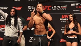 Kevin Lee Welcomes Jeers, Gives Crowd Finger at UFN 106 Weigh-Ins