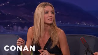 """Annabelle Wallis Did A Zero-G Stunt With Tom Cruise In """"The Mummy""""  - CONAN on TBS"""