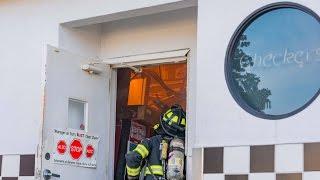 10 20 2016 Shirley NY Car into Bldg & Fire