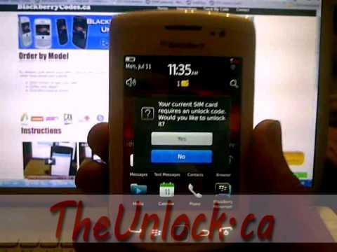 Blackberry Torch 9810 Rogers Unlocking Instructions