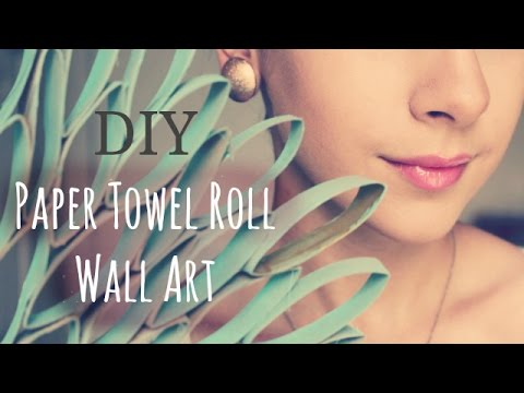 DIY: Wall Art out of PAPER TOWEL ROLLS!