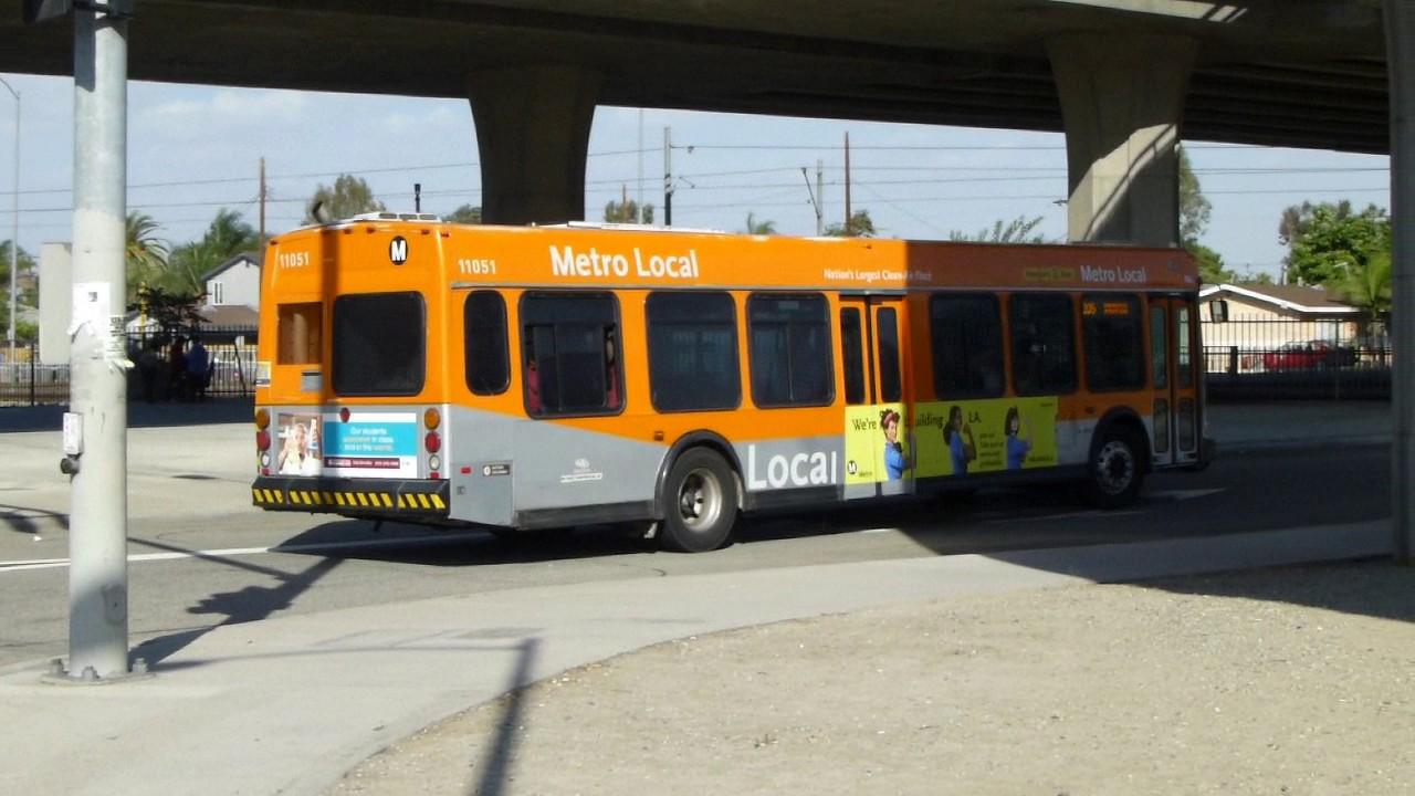 La Metro Bus 2001 Obi Orion Vi Route 205 Metro Local Bus