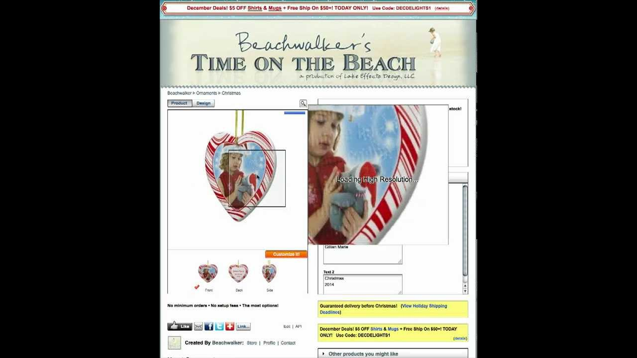 Create a Custom Christmas Ornament on Zazzle - in under 5 minutes ...