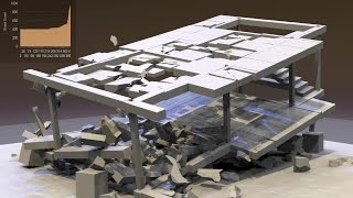 Dom-Ino House Exposed to Earthquake using Dynamic Fracture