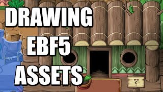 Drawing Epic Battle Fantasy 5 Art Assets