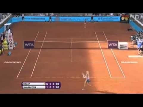 HaLep vs Sharapova Final Championship Mutua Madrid Open 2014