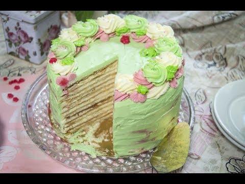 Как украсить торт наполеон в домашних условиях фото